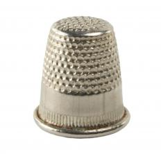 Sewers use thimbles to protect their fingers from being pricked by the needle while sewing.