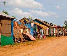 Slumming includes slum tourism, in which tourists visit developing nations.