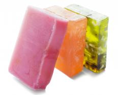 Many soaps are made of glycerin.
