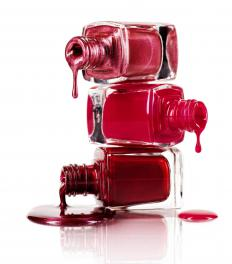 Darker shades of nail polish are more likely to leave stubborn stains.