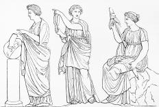 The Three Fates of Greek mythology are a form of the triple goddess.