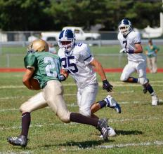 Football players may experience ankle injuries frequently.