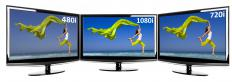 Big screen televisions are usually made with LCD or plasma technology.