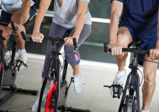 Stationary bikes provide low-impact aerobic exercise.