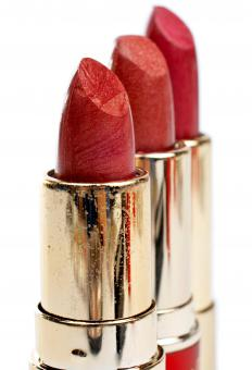 Lipstick should be one or two shades darker than the user's lip color.
