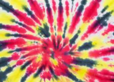 Tie-dyed t-shirts were popular in the 60s.