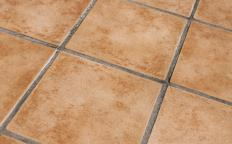 Sealant protects the porous surface of the tile and grout.