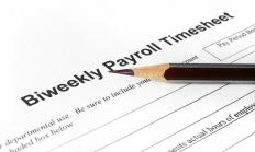 A company's payroll is handled by a payroll specialist.