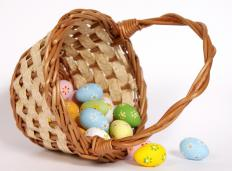 Colored eggs are believed to be laid by the Easter Bunny.