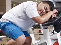 Someone who is physically well is not overweight and gets regular exercise.