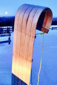 A toboggan is a classic winter snow sled.