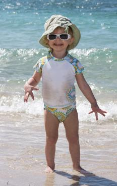 Young children have sensitive skin that is very prone to sunburn.