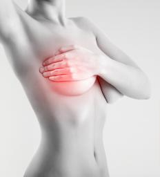 A pulled muscle or cyst can cause pain in one breast.