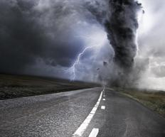 A strong hailstorm can be a sign that a tornado is approaching.