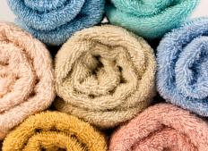 Terrycloth is often used to make towels.
