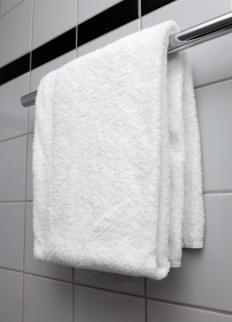 Stylish towels racks can be incorporated into a washroom's decor.