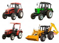 Mechanized farm equipment like tractors increased farm productivity.