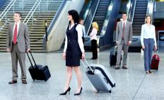 A guest service representative may find employment at airlines answering inquiries of travelers.