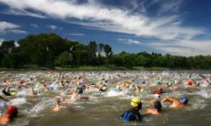 A swimming race could be included in a duathlon.