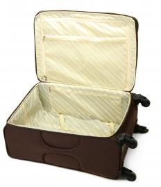 Suitcases that have wheels are easier to transport.
