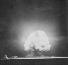 Operation Crossroads was the first detonation of nuclear weapons at sea, as well as the first nuclear weapons tests to be announced ahead of time.