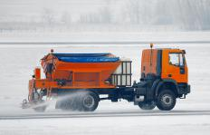 In areas prone to corrosion, such as those that see de-icing measures, corrosion-resistant reinforcing bars are used.