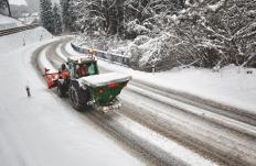 Calcium chloride is used to remove ice from roadways.