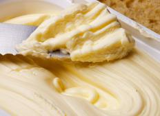 Whipped butter is used in egg butter.