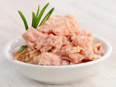 Dietary sources of vitamin D include tuna.