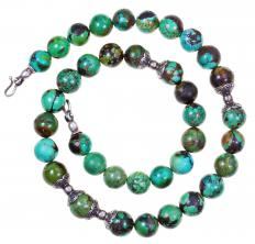 Making beads from reconstituted turquoise is a popular choice.