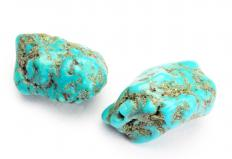 Turquoise is commonly used in concho belts.