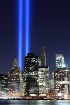 On September 11, 2001, Americans witnessed terrorist attacks in New York City at the World Trade Center.