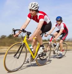 Bicycling may help reduce tummy fat.