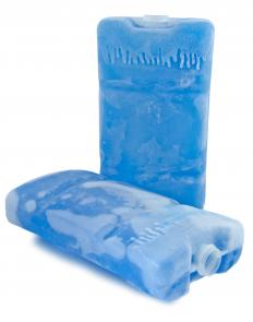 An ice pack can help with swollen elbow pain.