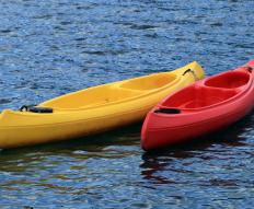 Fiberglass canoes are lighter than wooden canoes.