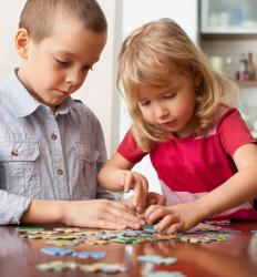 Jigsaw puzzles can help children develop spatial reasoning skills.