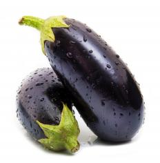 Eggplant is high in fiber and antioxidants and low in calories.