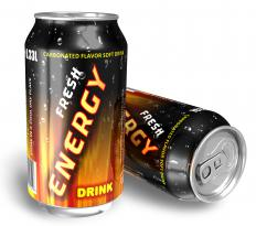 Energy drinks usually have high amounts of caffeine.