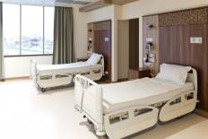The standard hospital bed size is equivalent to that of a standard twin.