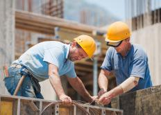 Construction workers are typically paid by the hour.