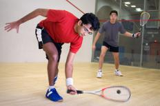 Hamate fractures may happen from participating in racquet sports like squash.