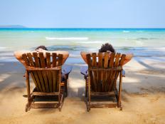 Adirondack chairs were originally developed in 1903, and the design has remained much the same ever since.