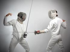Unlike the wooden swords used in kendo and other martial arts, flexible metal swords are often used by practitioners of fencing.