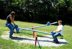 A seesaw is also called a teeter-tooter.