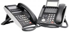 Audio conferencing may be conducted using telephones.