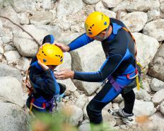 Rock climbing is an example of an ecotourism activity.