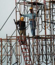 Scaffolding workers must not be fearful of heights.