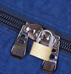 Some luggage locks open with a key rather than a combination.