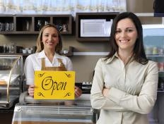 Small business owners may take out a line of credit to cover start-up costs.