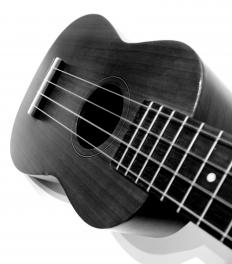A banjo ukulele has four strings, much like a regular ukulele.